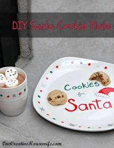 12 Days of Christmas Day 5 {DIY Santa Cookie Plate}