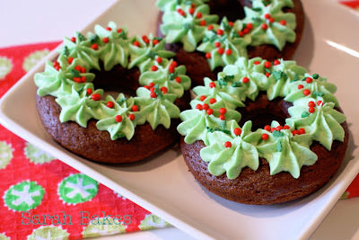 12 Days of Christmas Day 6 {GF Christmas Wreath Donuts}