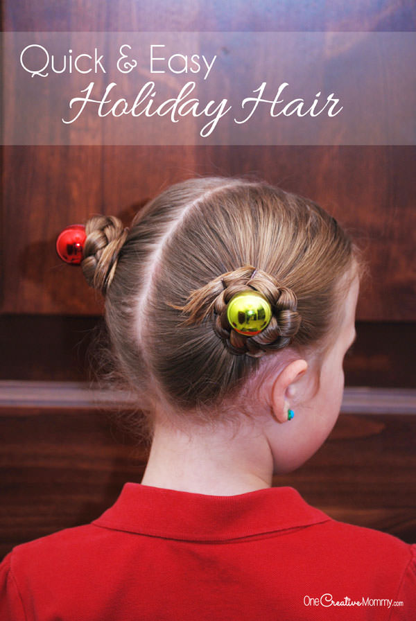 Simple Holiday Hair For Girls Onecreativemommy Com