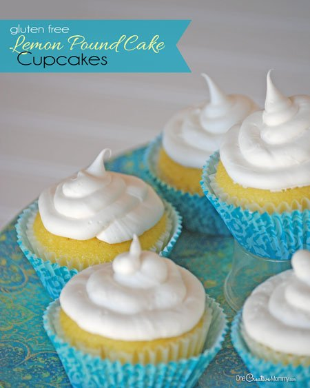 Gluten Free Lemon Pound Cake Cupcakes - onecreativemommy.com