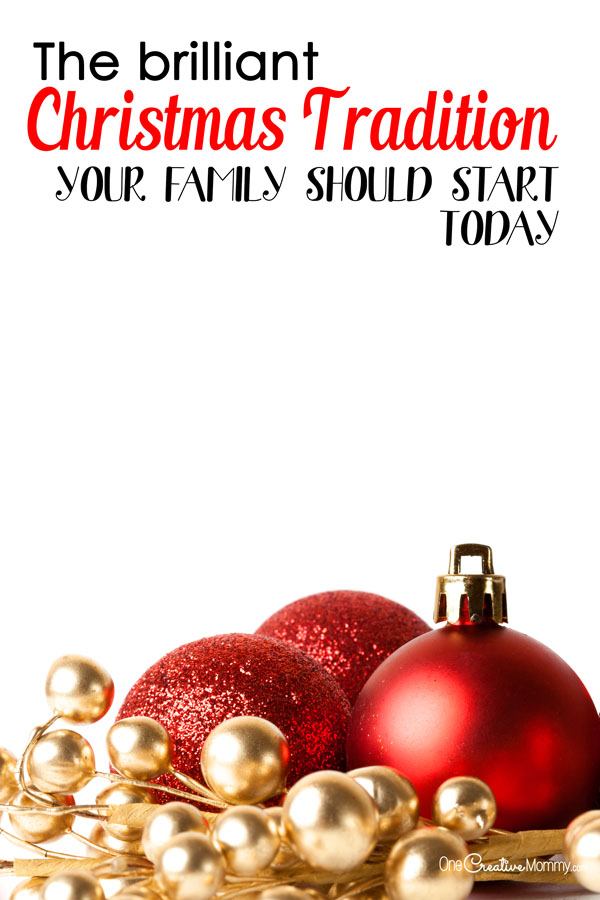 Check out the brilliant Christmas tradition that your family should start today! We're on year #2, and it's so much fun! {OneCreativeMommy.com}