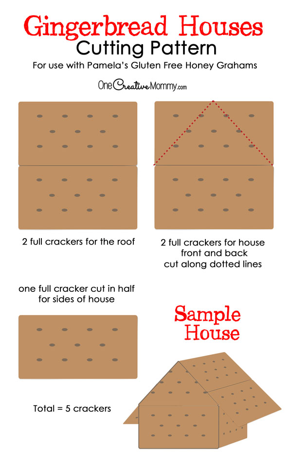 How to assemble a Graham Cracker Gingerbread House {OneCreativeMommy.com}