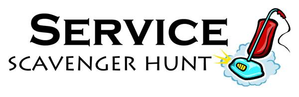 Service Scavenger Hunt Logo {OneCreativeMommy.com}