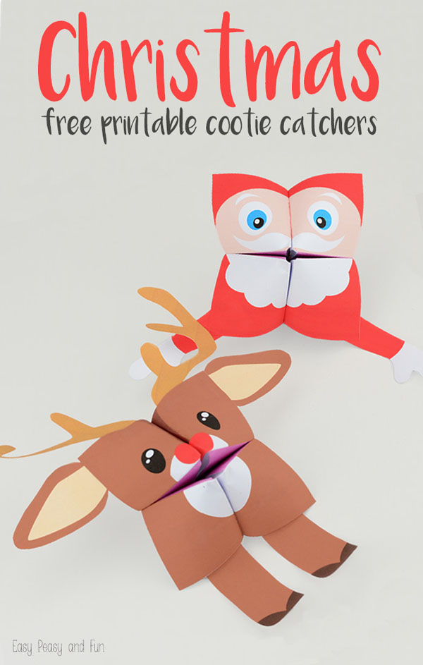 Christmas Free Printable Cootie Catchers from Easy Peasy and Fun {Featured in 25 Amazing Santa Claus Christmas Crafts on OneCreativeMommy.com}
