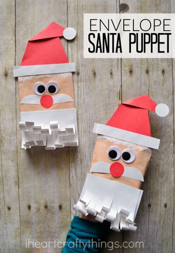 DIY Santa Gift Bags from Val Event Gal {Featured in 25 Amazing Santa Claus Christmas Crafts on OneCreativeMommy.com}