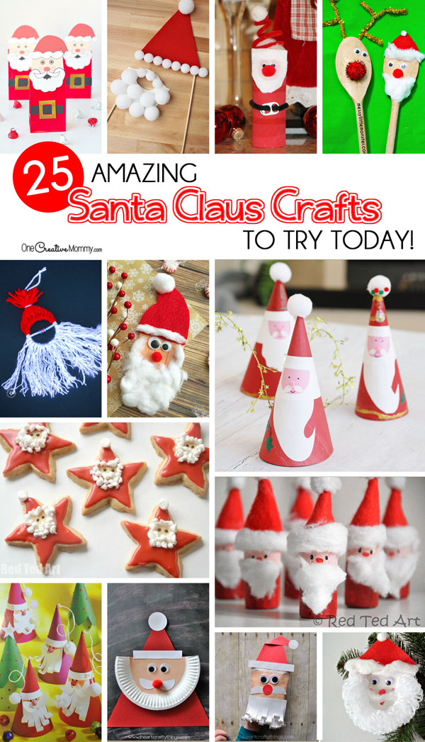 Cute Christmas Ideas For Kids.25 Amazing Santa Kids Crafts To Try Right Now