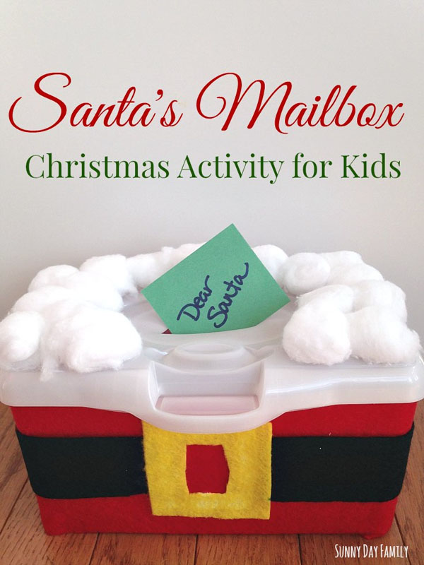 Santa's Mailbox Christmas Activity from Sunny Day Family {Featured in 25 Amazing Santa Claus Christmas Crafts on OneCreativeMommy.com}
