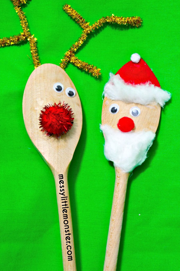25 amazing santa kids crafts to try right now for Wooden spoons for crafts